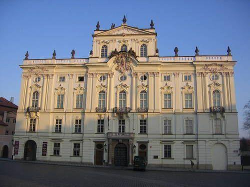 pražský arcibiskupský palác / Wirch. Antonín hrabě Příchovský 1764. Wirch 1732-83.