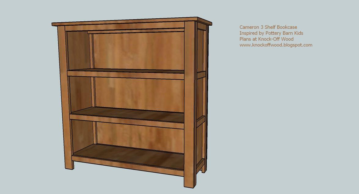 Plan Cameron 3 Shelf Bookcase Perfectly Simple Pottery Barn Kids Furniture Hacked Bookshelves Diy