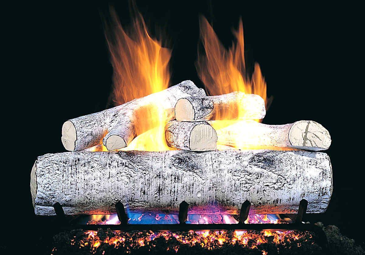 White Birch Ventless Gas Logs Google Search Gas Fireplace Logs