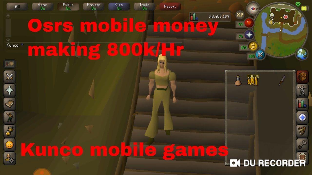 Osrs Mobile Afk Money Making Method 800k Hr