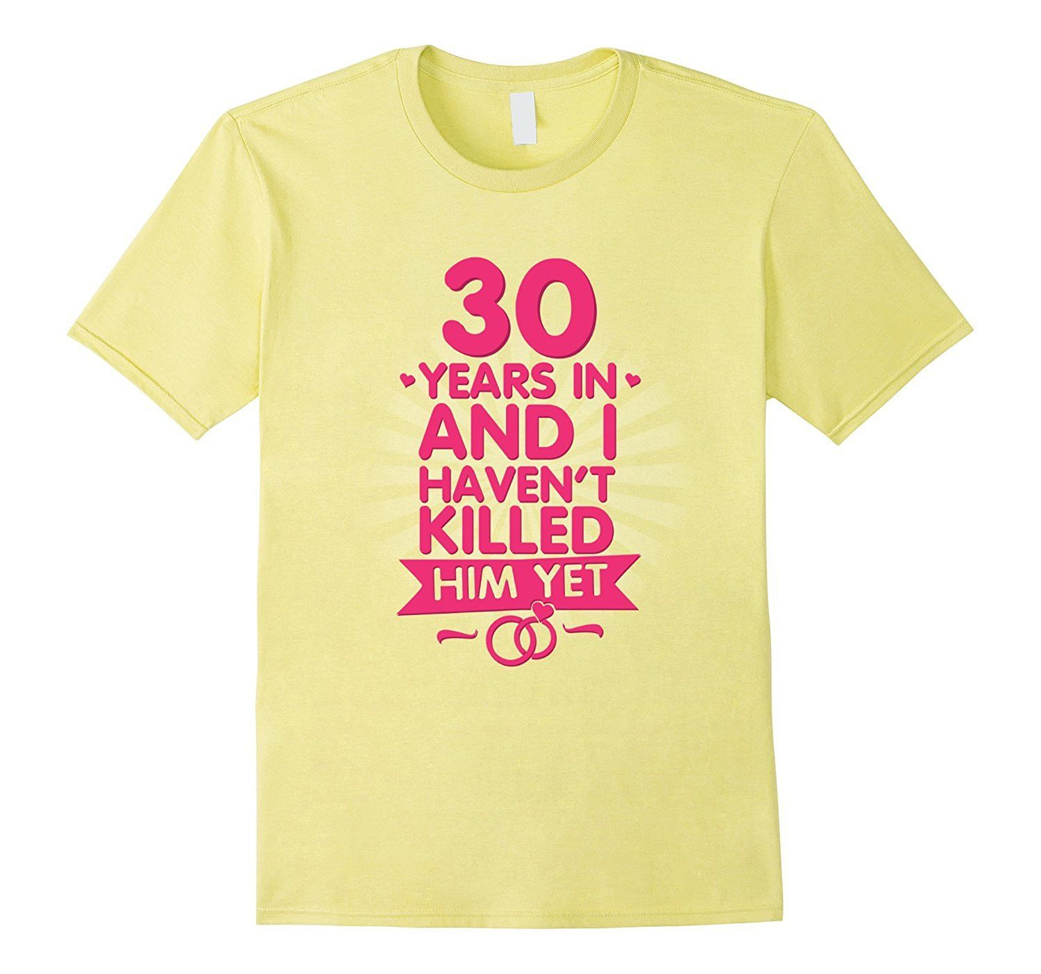 30 Years of Marriage T shirt. 30th Anniversary Gift for