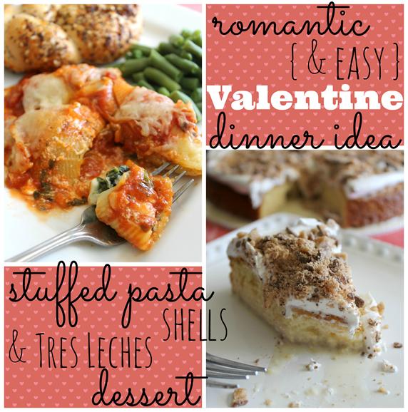 romantic easy valentine dinner idea stuffed pasta shells tres leches dessert cbias - Easy Valentines Dinner
