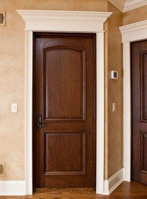 I like dark wood doors better than the black Future Home