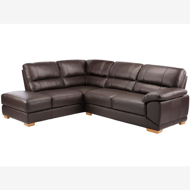 Best Clarence Corner Sofa Right Hand Brown Leather Sofá De 400 x 300