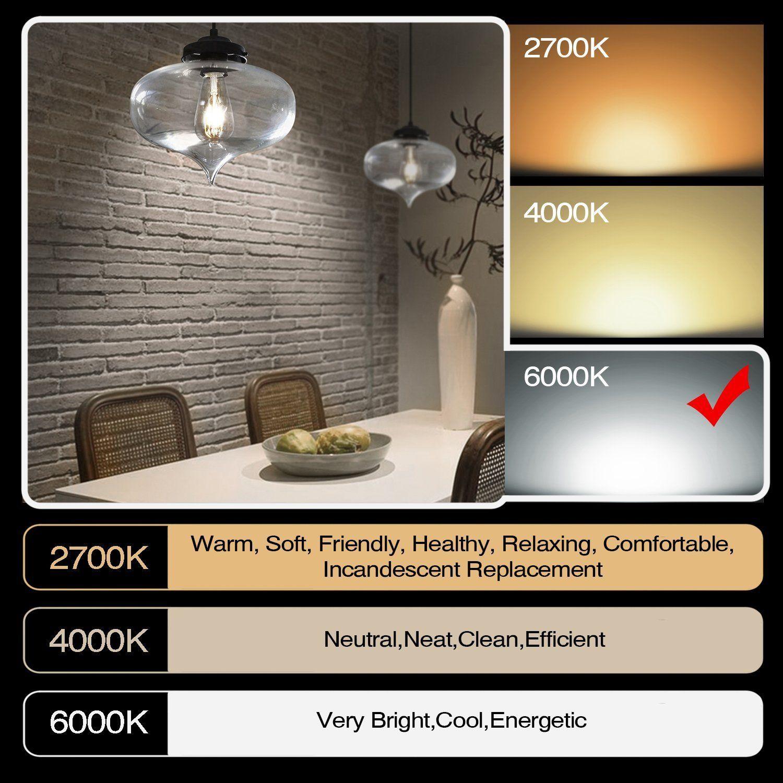 Gezee Led Edison Bulb 10w100 Watt Equivalent Dimmable Filament Light Bulb St64 Daylight Color 6000k E26 Medium B In 2020 Filament Bulb Lighting Bulbs Indoor Light Bulb