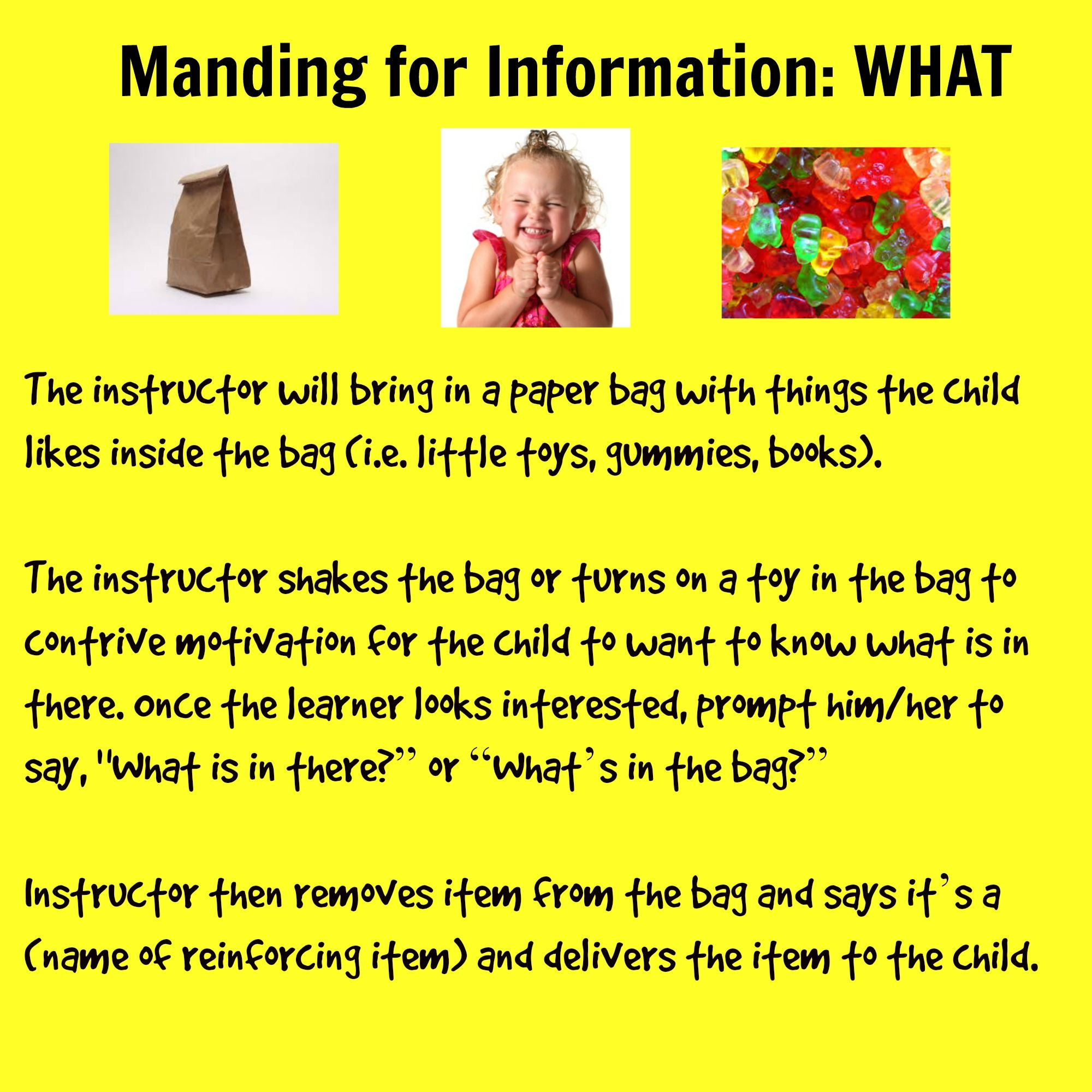 Manding For Information What