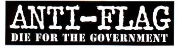 Anti Flag Die For The Government Sticker 1 25 Anti Flag Stickers Poster Design