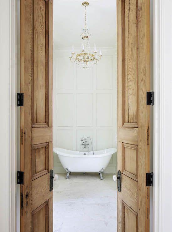 20 Vintage Bathroom Door Design Ideas From Wood Wood Doors