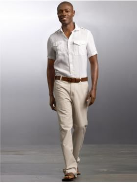 Beach Wedding Outfit For Men Prob Do A Blue Or Reddish Orange Shirt To Fit