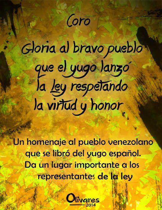 Himno Nacional De Venezuela Ilustrado Coro Venezuela Country Let It Be