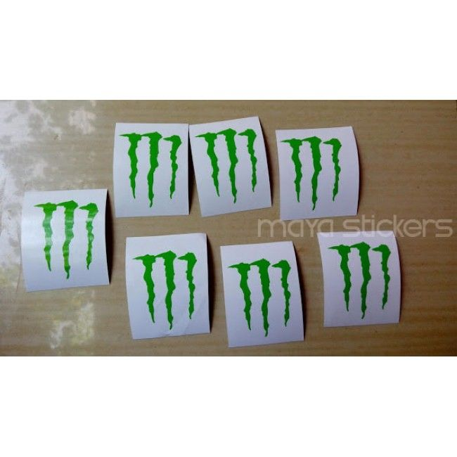 Monster Energy Logo Sticker Decal For Cars Bikes Laptop - Custom vinyl decals india