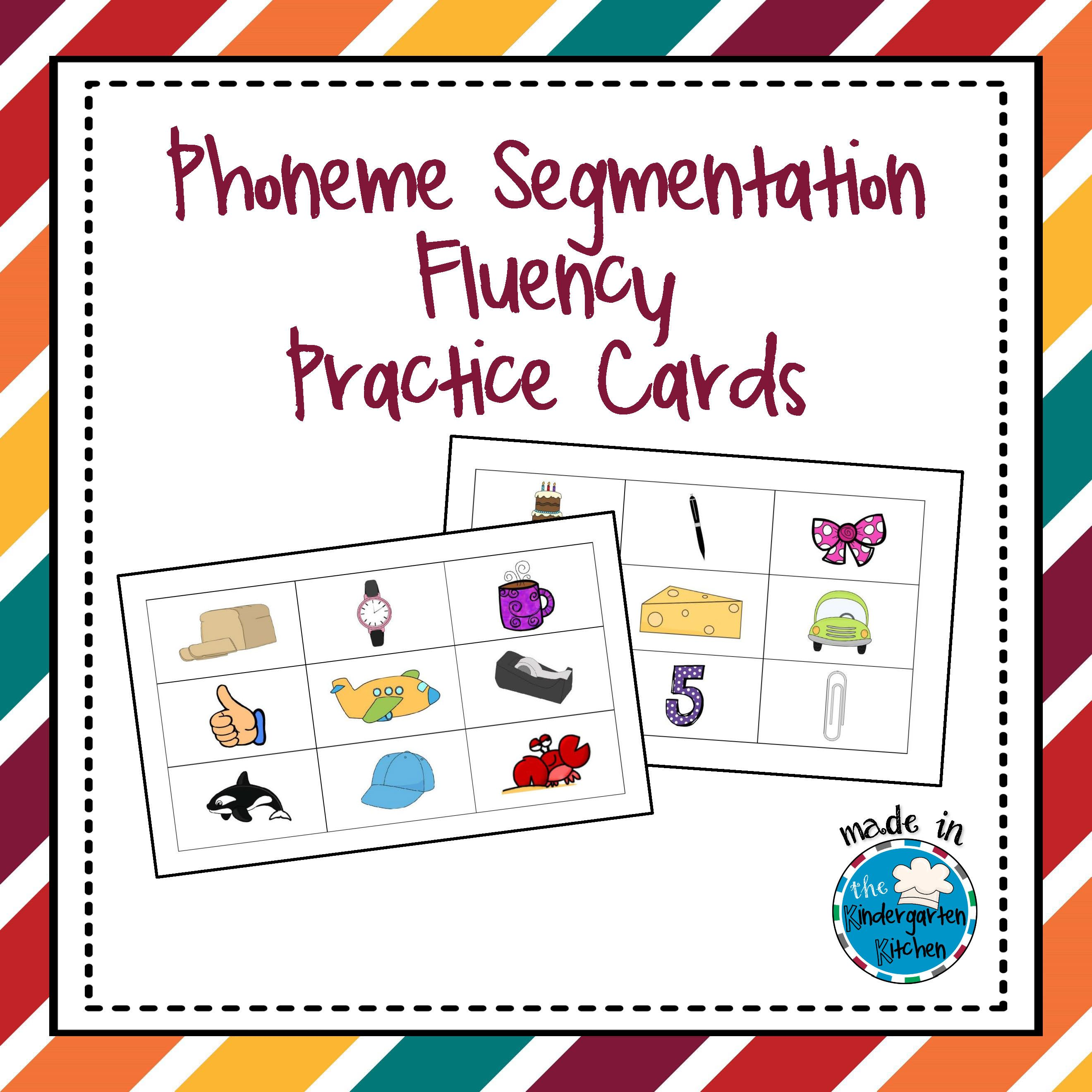 Phoneme Segmentation Fluency Practice Cards