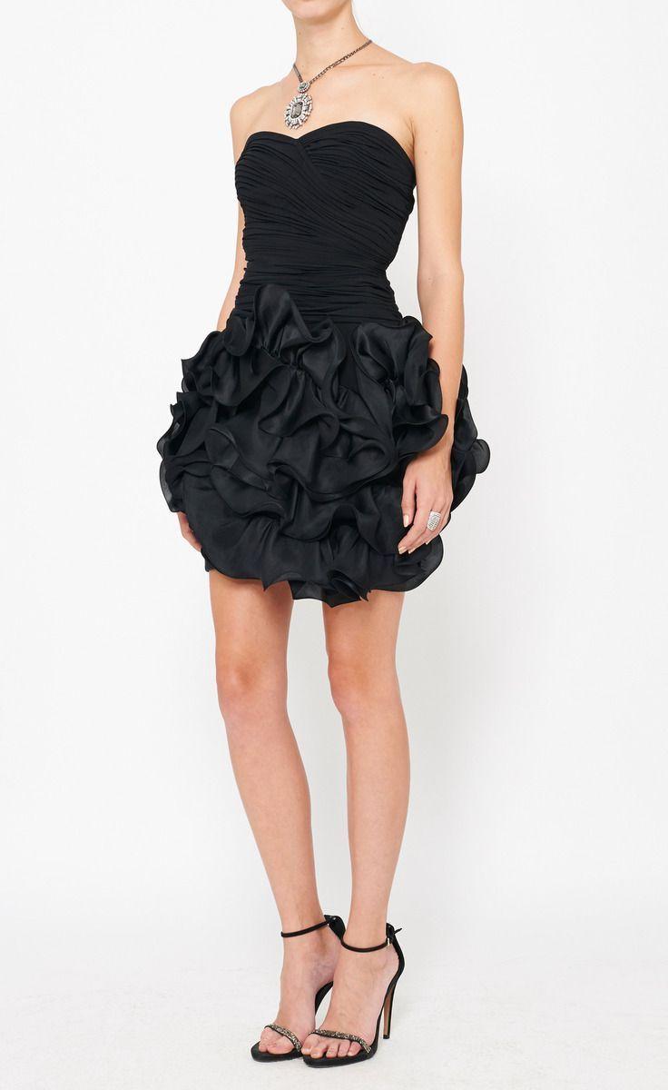 Frilly Black Dress Dresses Strapless Dress Formal Little Black Dress [ 1200 x 736 Pixel ]