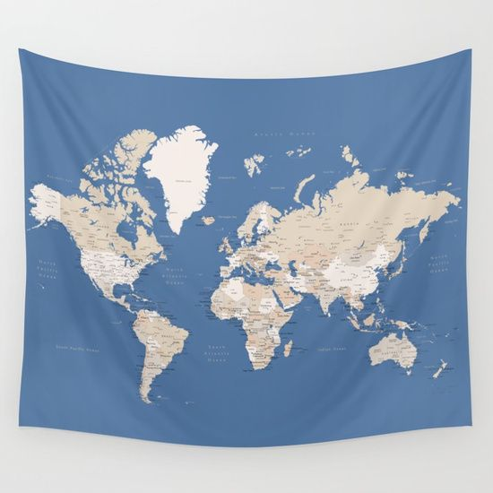 Blue and brown world map with cities prints in sizes l xl only blue and brown world map with cities prints in sizes l xl only wall gumiabroncs Images
