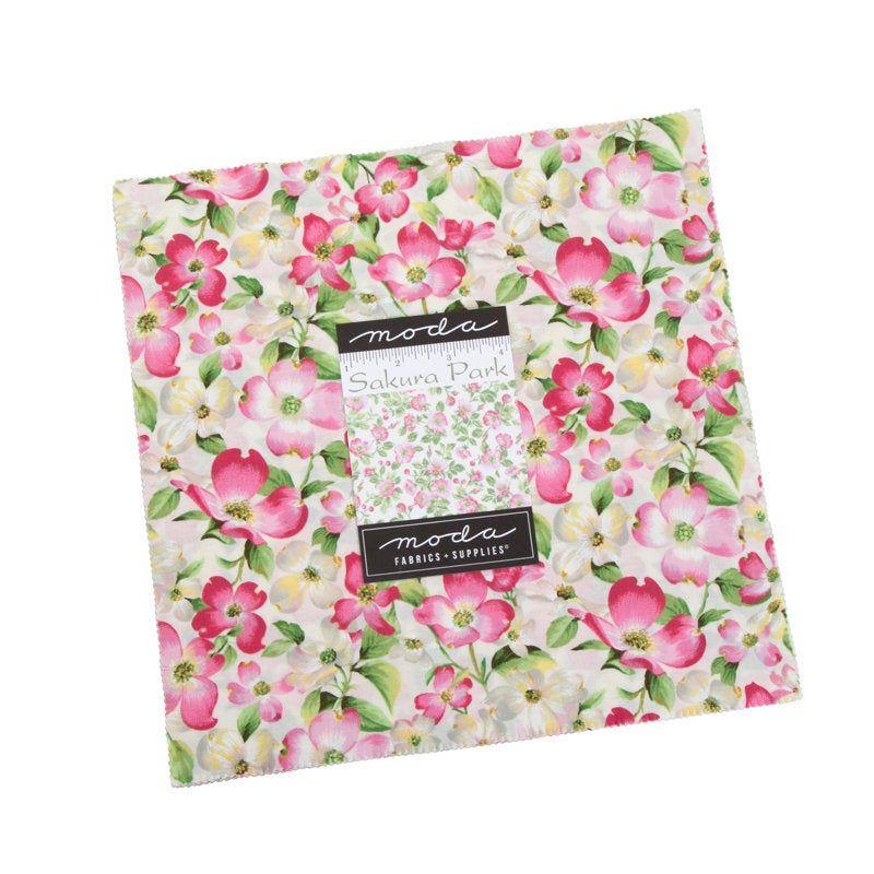 Sakura Park 2019 Layer Cake Moda 33480lc 10 Inch Precut Fabric Squares Pink White Cherry Blossom Fabric In 2020 Precut Fabric Squares Fabric Squares Precut Fabric