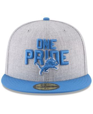 c61a43826 New Era Boys' Detroit Lions Draft 59FIFTY Fitted Cap - Gray 6 1/2 ...