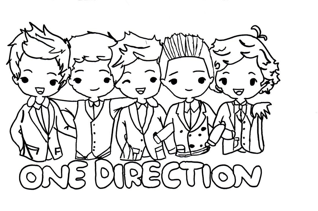 One Direction Chibi Drawing So Adorable One Direction Logo One Direction Drawings One Direction Cartoons