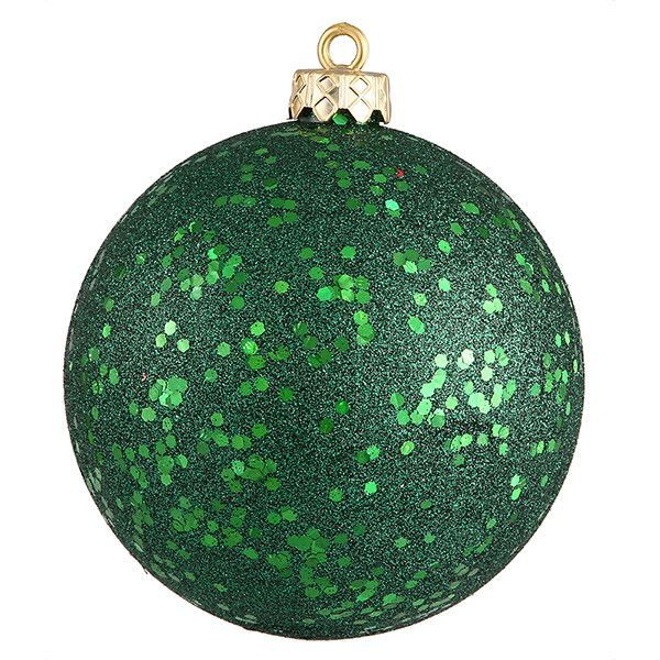 "Emerald Green Holographic Glitter Shatterproof Christmas Ornament 6"" (150mm)"