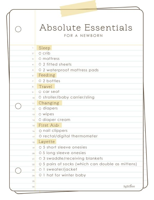 Absolute Essentials For A Newborn  Ultimate Baby Registry List