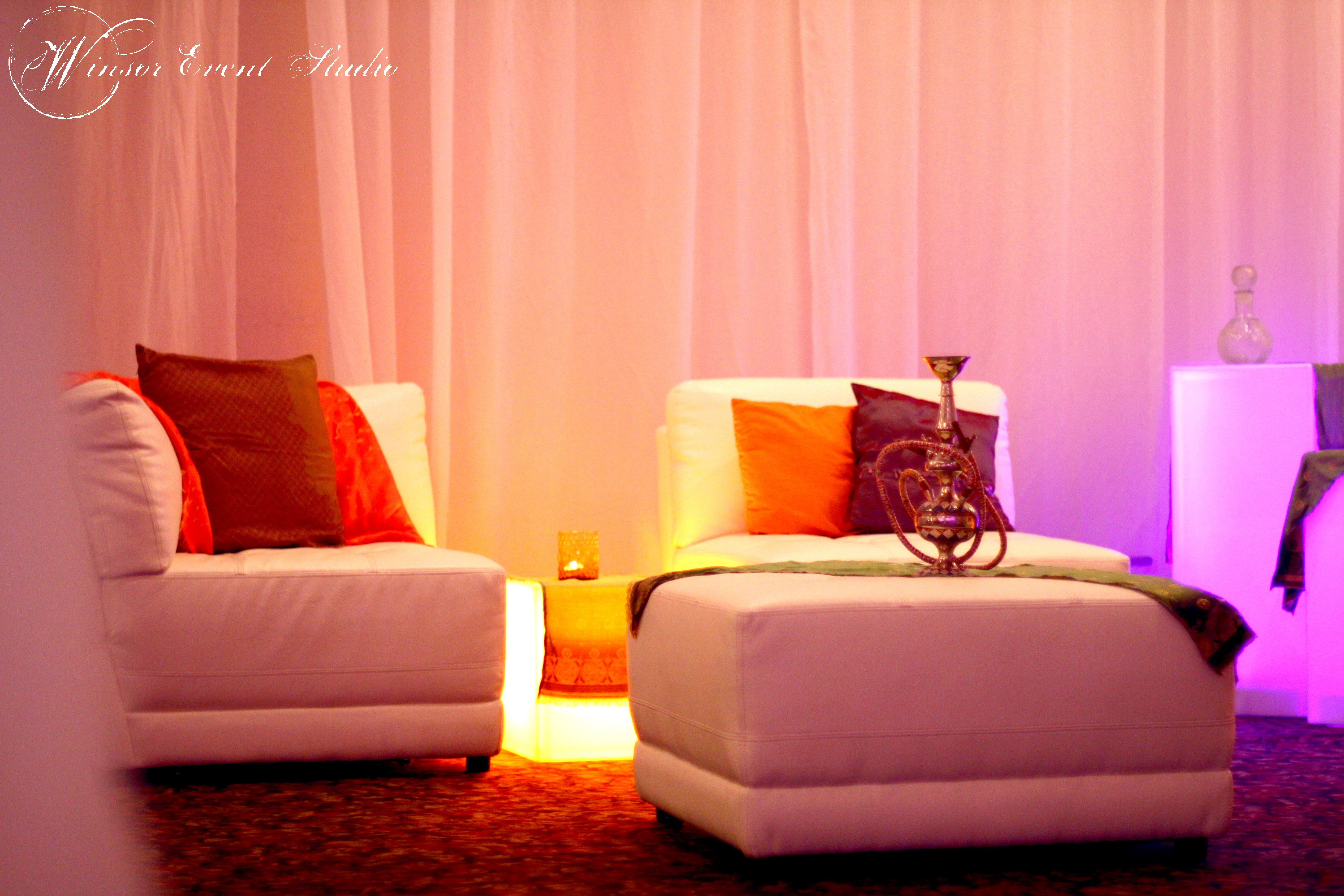 Best Wedding H**K*H Lounge With Sleek White Furniture Colorful 400 x 300