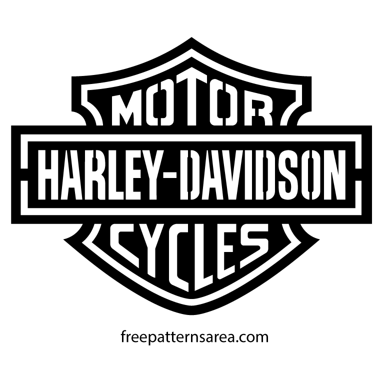 photo relating to Printable Harley Davidson Logo referred to as Harley Davidson Symbol Stencil Vector Coches Harley