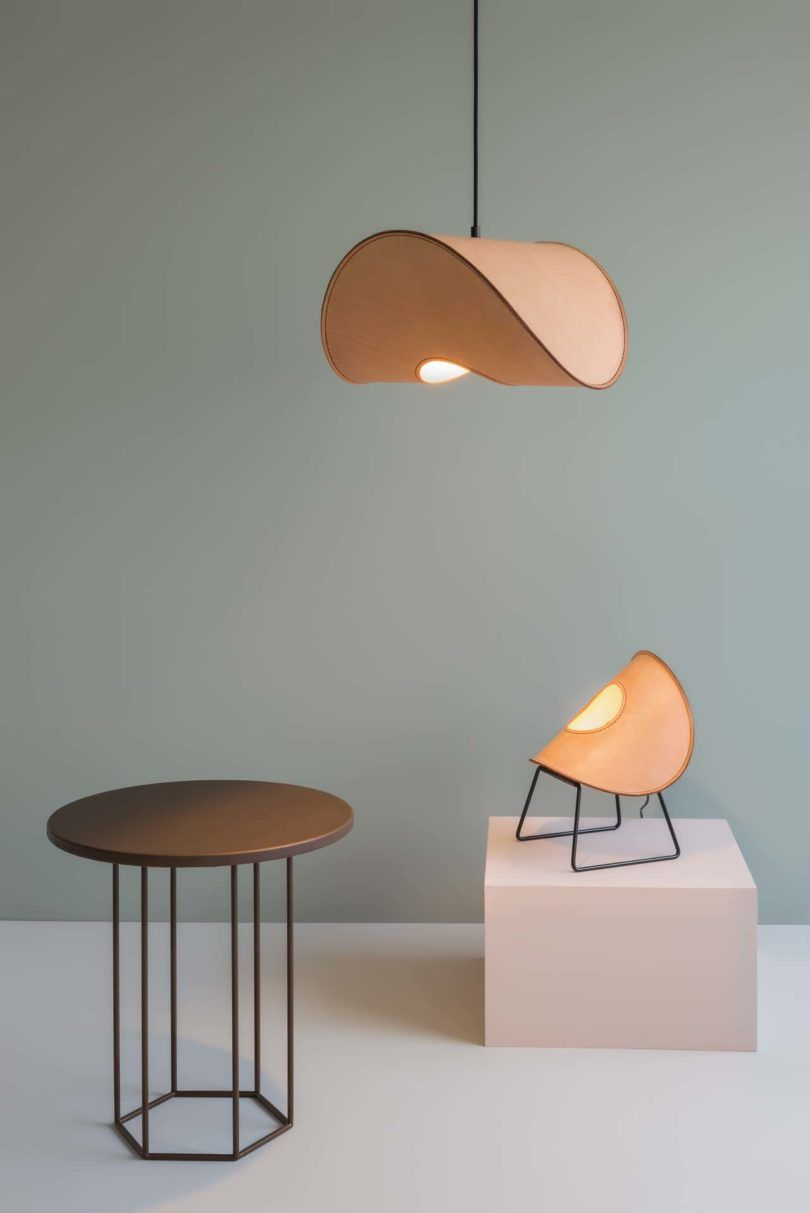 Uniqka Launches Hand Stitched Leather Lamps