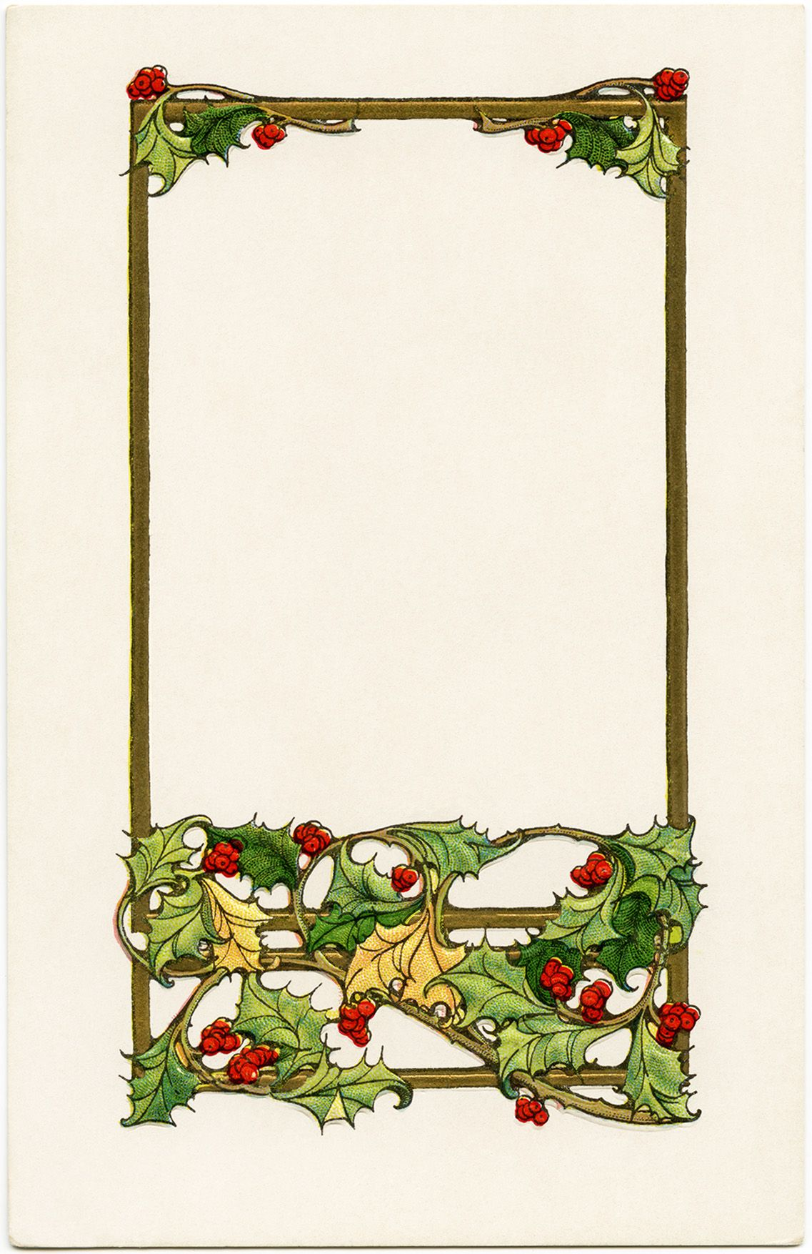 Vintage yuletide greetings christmas postcard free download vintage christmas postcard old fashioned christmas graphic holly and berries clipart yuletide greetings antique holiday clip art kristyandbryce Image collections