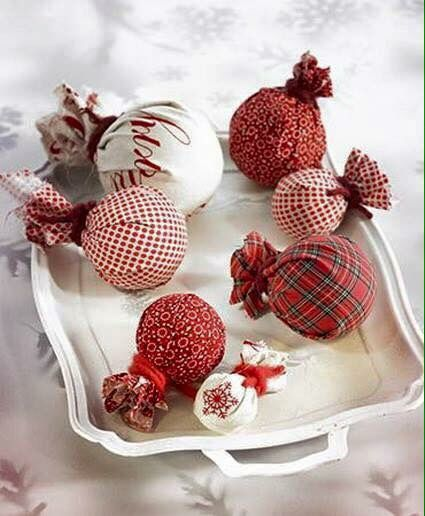 How To Decorate Polystyrene Balls Easy Using Foam Styrofoam Balls And Old Fabric  ✂️christmas