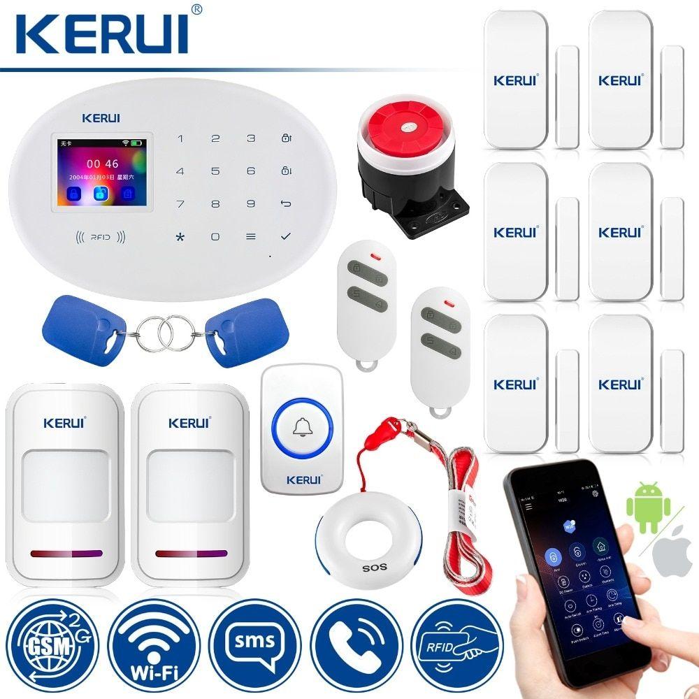 KERUI Wireless Home Alarm Security Protection WIFI+GSM