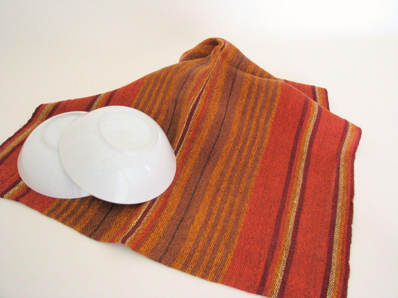 Striped Linen Kitchen Towel Linen Tea Towel Handwoven Towel