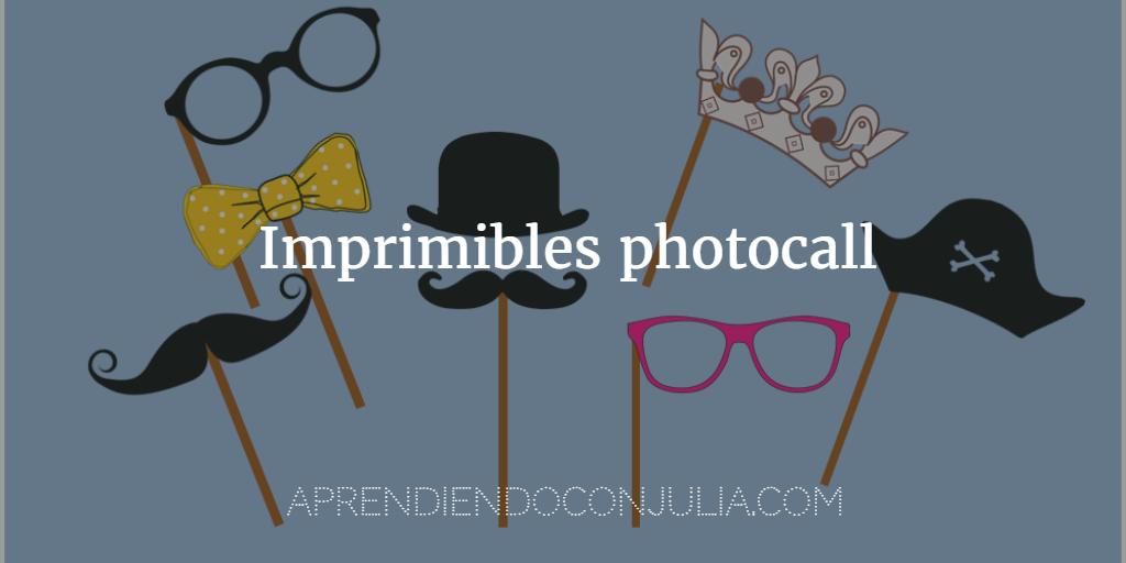 bec3867745 20 imprimibles para fiesta y carnaval Photocall: gafas, sombreros, coronas,  pajaritas, corbatas, bigotes, barbas... Para imprimir
