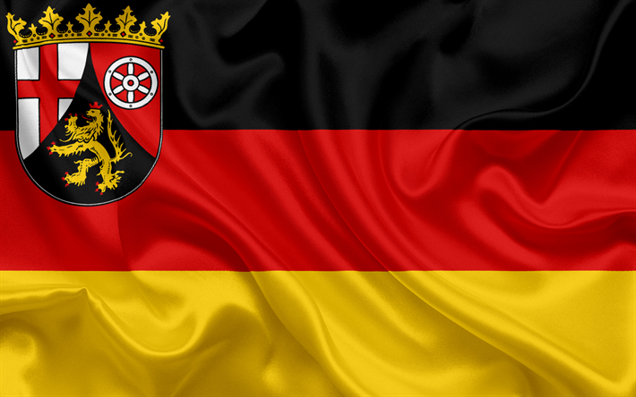 Download Wallpapers Flag Of Rhineland Palatinate Land Of Germany Flags Of German Lands Rhineland Palatinate States Of Germany Silk Flag Federal Republic O Rhineland States Of Germany Germany Flag