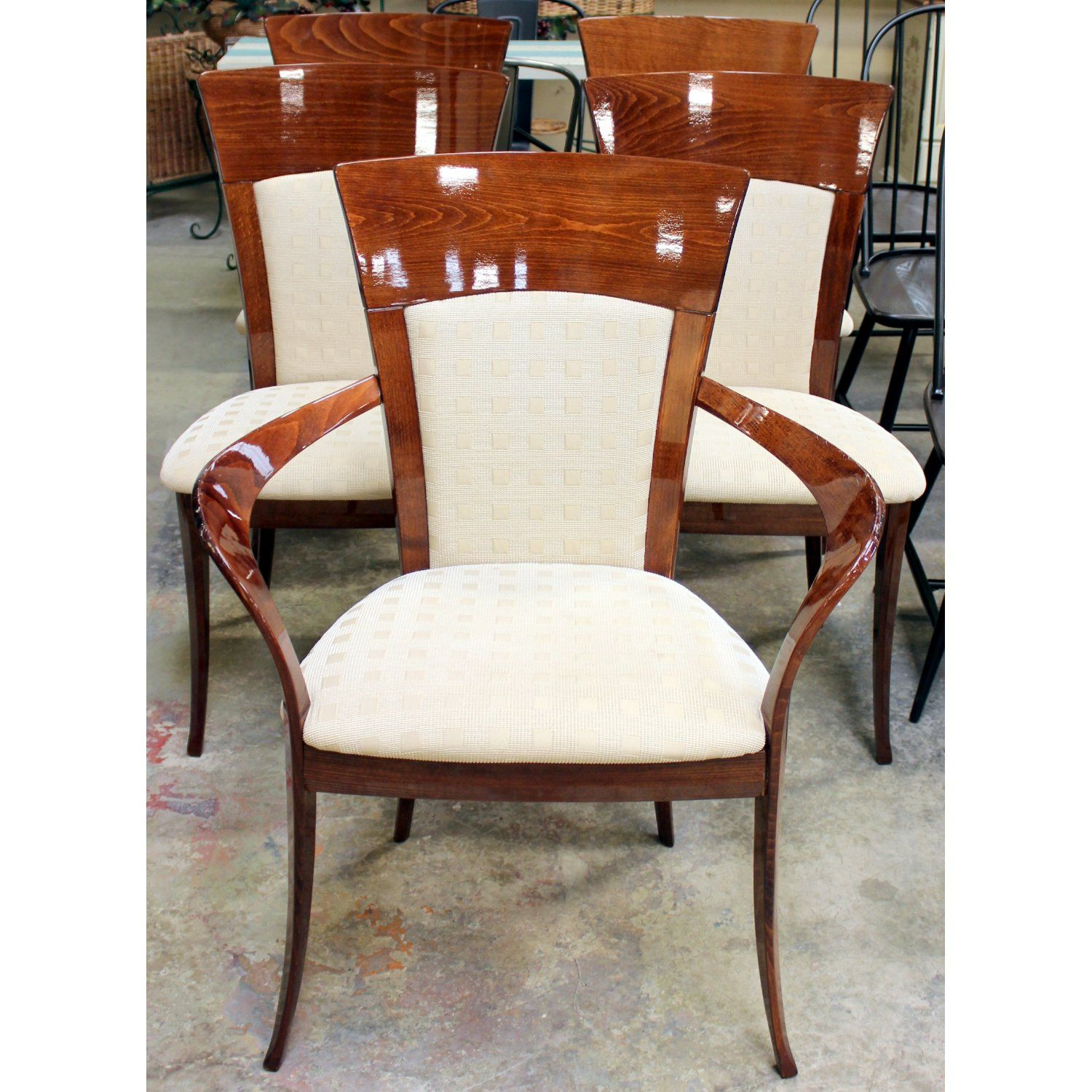 High Quality Ello Furniture Set Of 5 Dining Chairs | Upscale Consignment