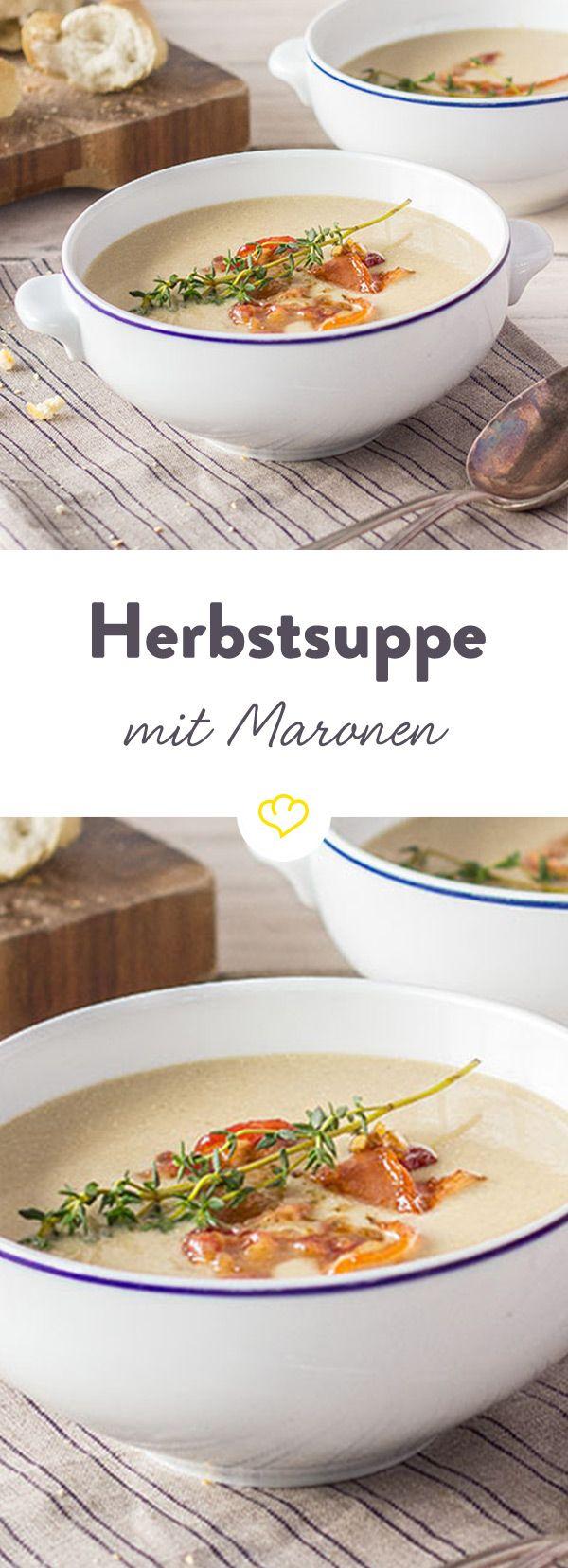 Herbstsuppe mit Maronen   Rezept   Maronen, Fenchel und Herrlicher