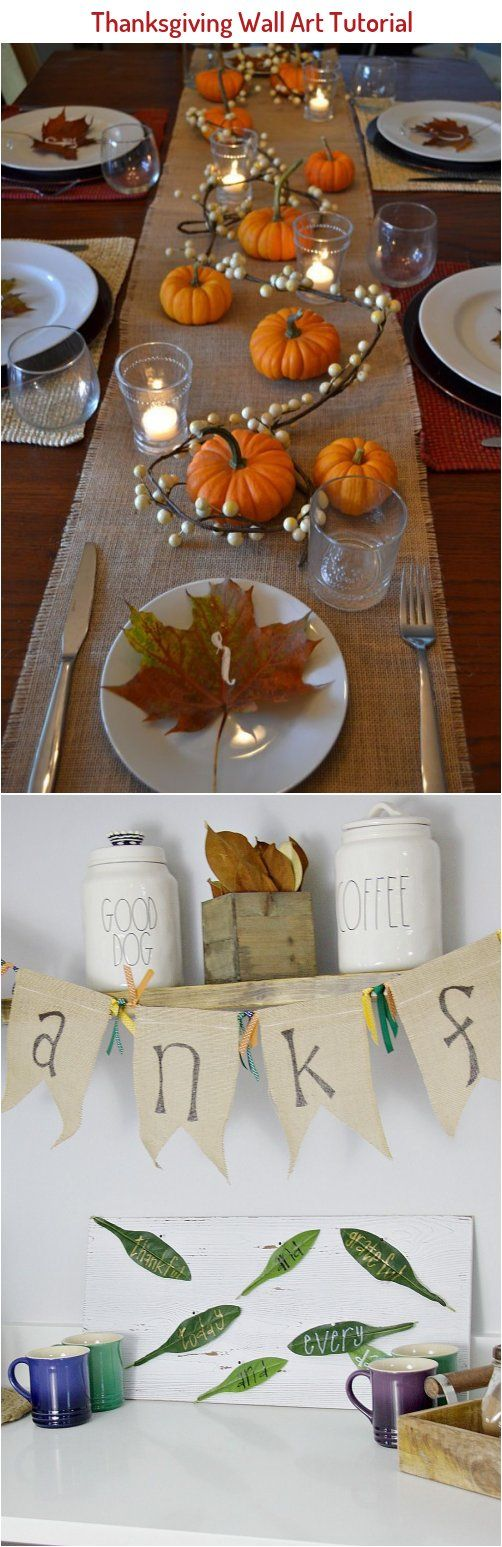 Thanksgiving Wall Art Tutorial Is An Adorable Addition To Any Holiday Decor Diy Thanksgivin In 2020 Holiday Decor Thanksgiving Thanksgiving Wall Art Wall Art Tutorial
