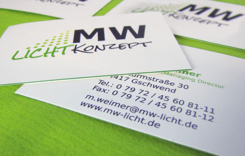 Visitenkarte Im Multiloft Stil Mit Farbkern In Grün Sehr