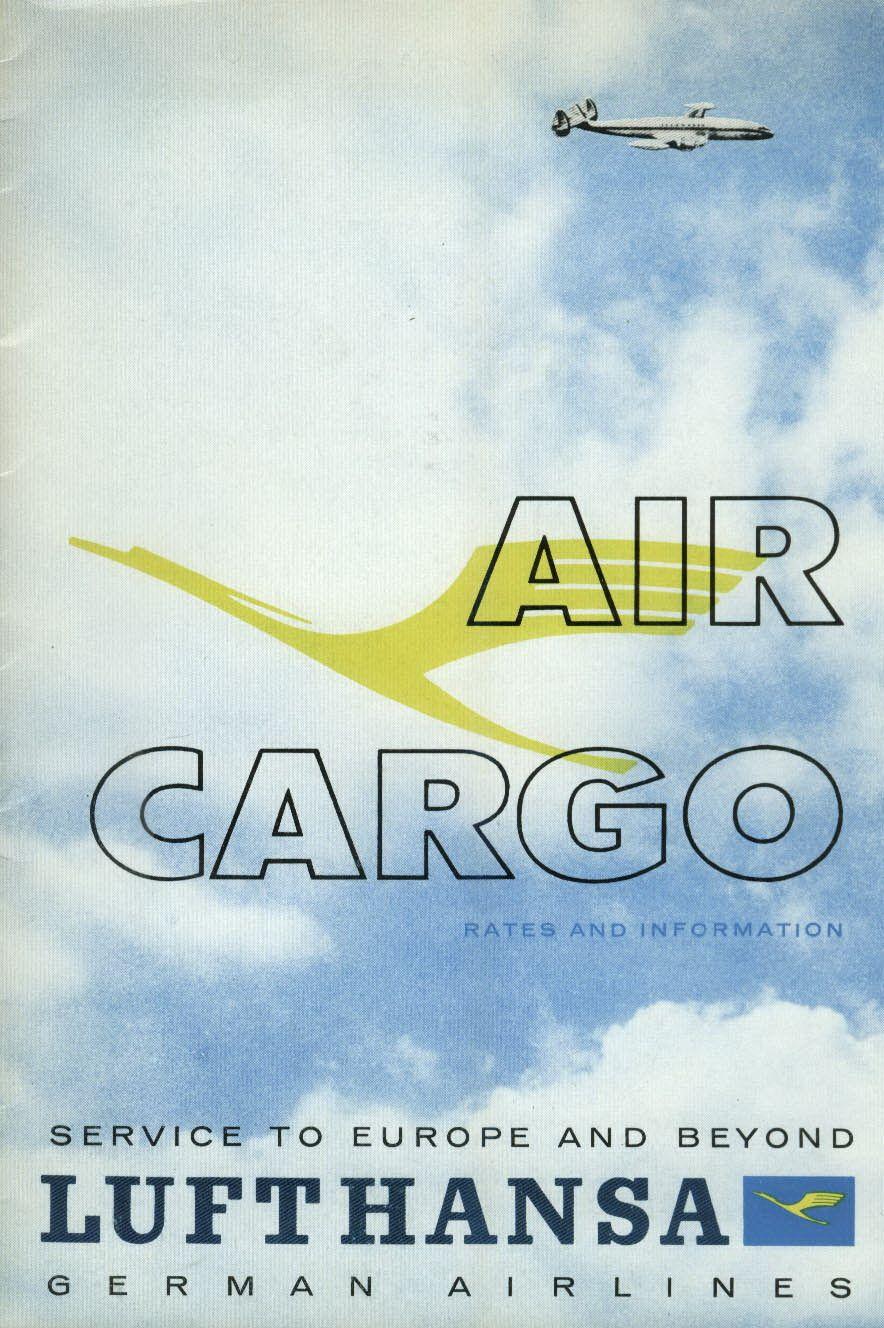 Lufthansa German Airlines Air Cargo airline brochure 1950s