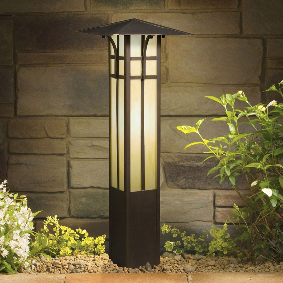 Ornamental Bollard Light Solar Lights Garden Landscape Lighting Design Outdoor Path Lighting