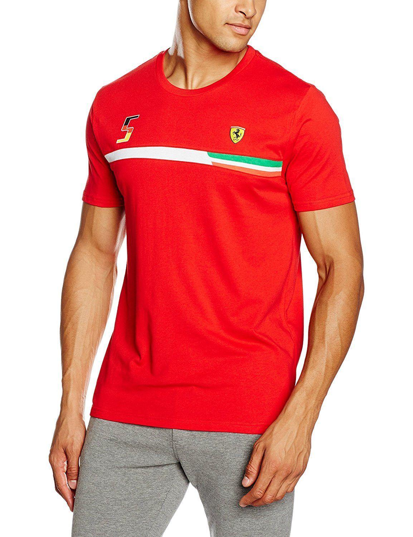 ferrari brand t english shirt puma logo color by white