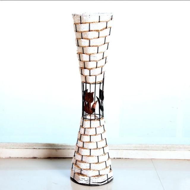 Photo of 55cm New Country Style Artificial Flower Rattan Vase Wedding Hotel DIY Home Decoration Accessorie Cherry Flower Arrangement Vas – B