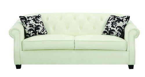 Best Amazon Com Kristyna Tufted Leather Sofa By Coaster 400 x 300
