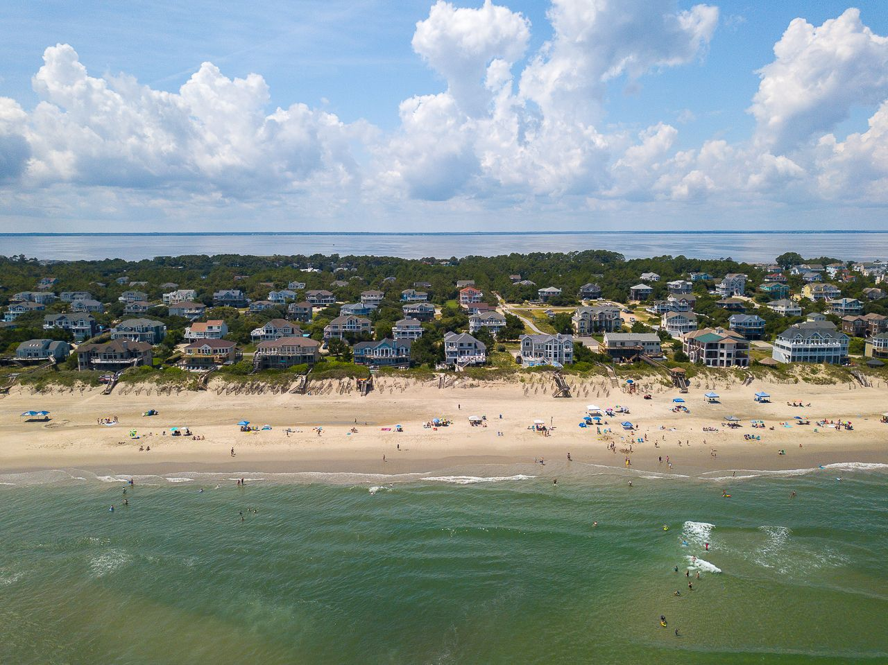 Look How Far Out In The Atlantic The People On The Outer Banks Sandbar Are Such An Amazing Outer Banks Beach Outer Banks Vacation Outer Banks Vacation Rentals