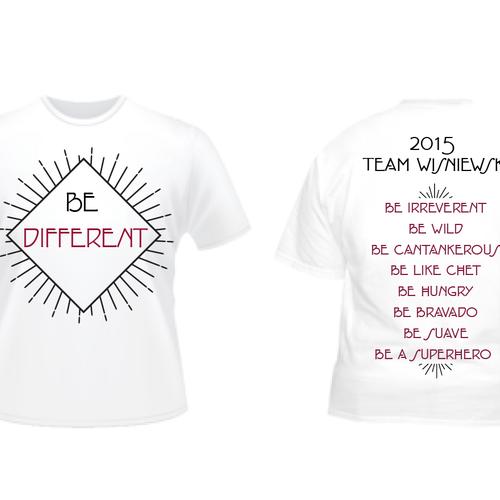 T Shirt Design Specs | Modern Fun Crisp Clean Quick T Shirt Design With Specific Specs