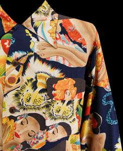 Mens Vintage Clothing 1940's Rare Sun Surf Hawaiian Shirt Larg ...
