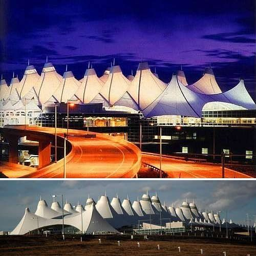 The Tensile Fabric Roof Of Denver International Airport Is