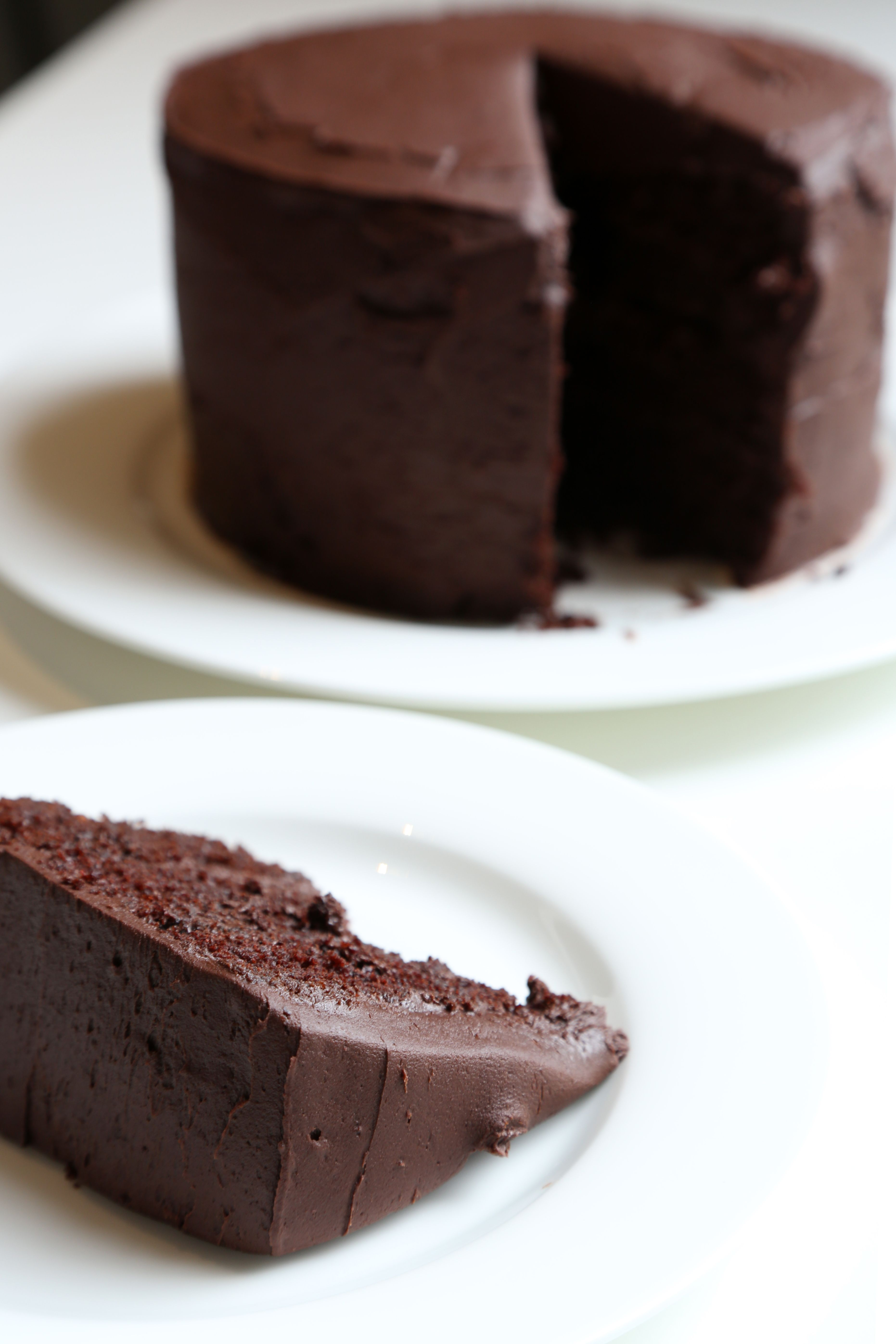 Melted chocolate cake topping recipe