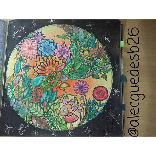 Instagram media alecguedesb26 - Material: Lápis de Cor Comum Faber Castell, Caneta Gel prata e Caneta Posca preta.  Livro: Floresta Encantada  Ed Sextante  #coloredpencils #livrosdecolorir #jardimcolorido #florestaencantada #desenhosparacolorir #colorindo #jardimsecreto #boracolorirtop #coreaart #colorindolivrostop #nossaflorestaencantada #secretgarden #enchantedforest #coloringbook #coloringforadults #painting #artecomoterapia #arteterapia #johannabasford #artbook #arttherapie #amocolorir…