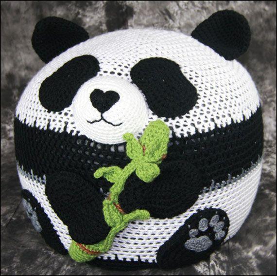 Panda Bean Bag Chair | Crochet | Pinterest