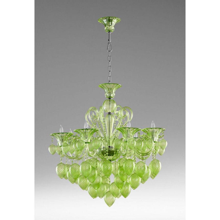 cyan design ceiling lights bella vetro 8 light chandelier 5205