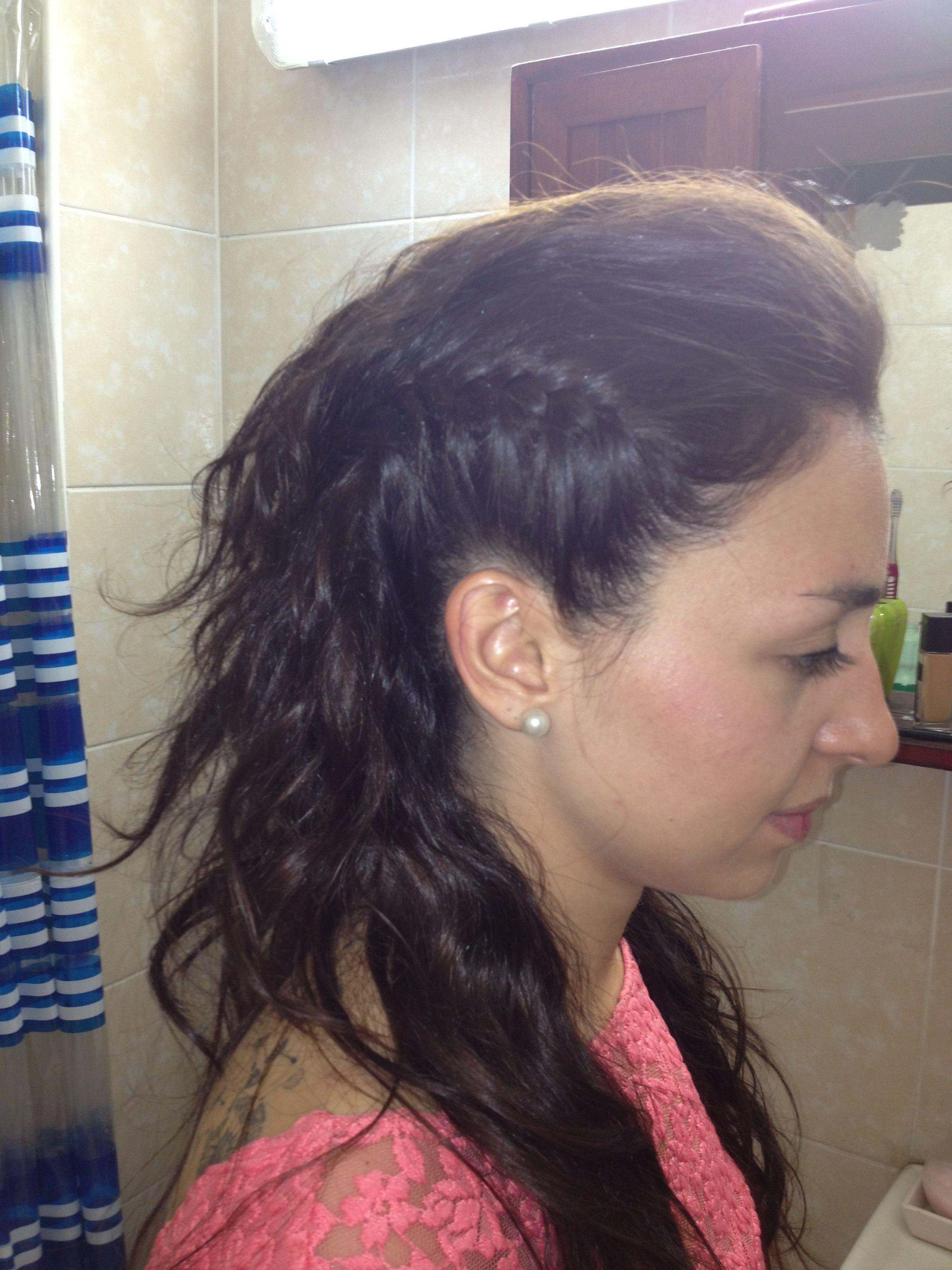 punk ondas trenzas y hopo peinados